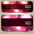 Elegant banners with hearts and place for text. Valentine's Day. — Stock Vector