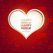 Tarjeta de regalo. día de san valentín. vector fondo — Vector de stock