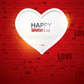Подарочная карта. День Святого Валентина. Векторный фон — Cтоковый вектор