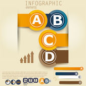 Set of Infographic elements. Design template. — Stock Vector