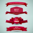 Set of Superior Quality and Satisfaction Guarantee Ribbons, Labels, Tags — Stock Vector