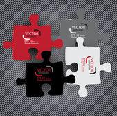 Abstracte achtergrond gemaakt van puzzelstukjes — Stockvector