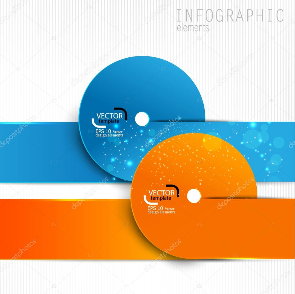Colorful paper design elements on white background Vector – Paper Design Template