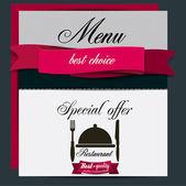 Restaurant Menu design. Vector template — Stock Vector