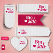 Set of bubbles, stickers, labels, tags Big Sale. Vector templa — Imagen vectorial