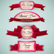 Постер, плакат: Set of Superior Quality and Satisfaction Guarantee Ribbons Labe