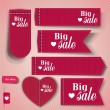 Set of bubbles, stickers, labels, tags Big Sale. Vector templa — Stock Vector