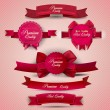 Royalty-Free Stock Vector Image: Set of Superior Quality and Satisfaction Guarantee Ribbons, Labe