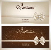 Gorgeous gift cards with white bows and copy space. Vector illus — Stock Vector