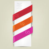 Colorful bookmarks for text. Vector background — Stock Vector
