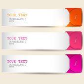 Colorful bookmarks with place for text — Stock Vector