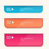 Set of bookmarks, stickers, labels, tags. Numbered banners. Vect — Stock Vector