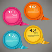 Set of bubbles, stickers, labels, tags. Numbered speech bubbles. — Stock Vector