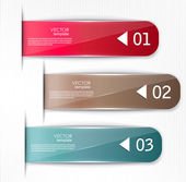 Set of bookmarks, stickers, labels, tags. Vector template for in — Stock Vector