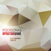 Abstract colorful polygonal background. Vector illustration — Stock Vector