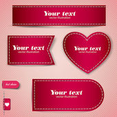 Set of red bubbles, stickers, labels, tags. Vector template — Stock Vector