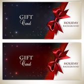 Holiday banners with red bows and copy space. Vector illustratio — Stock Vector