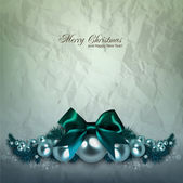 Elegant background with Christmas garland — Stock Vector