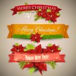 "Set of Ribbons, Labels, Tags ""Merry Christmas and Happy New Year !"" — Stockvektor  #35367611"