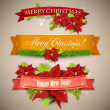 "Set of Ribbons, Labels, Tags ""Merry Christmas and Happy New Year !"" — Wektor stockowy  #35367611"