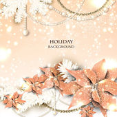 Elegant background with Christmas garland. Vector illustration — Wektor stockowy