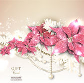 Elegant background with Christmas garland. Vector illustration — Stock Vector