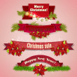"Stock Vector: Set of Ribbons, Labels, Tags ""Merry Christmas and Happy New Year!"""