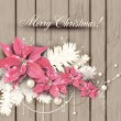 Elegant  background with Christmas garland. — Image vectorielle