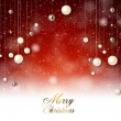 Elegant  background with snow and Christmas garland. — Stok Vektör