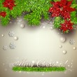 Elegant  background with Christmas garland. — Stockvectorbeeld