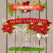 Set of  Ribbons, Labels, Tags Merry Christmas and Happy New Year! — Imagen vectorial
