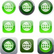 Planet green app icons. — Stock Vector #6128890