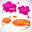 Paper speech bubble — Stock Vector #6188483