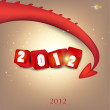 Greeting card. 2012 year of Dragon. — Stock Vector #8036847
