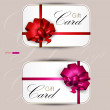 Collection of gift cards with ribbons. Vector background — Stock Vector #9137541