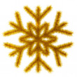Golden snowflake 3d. — Stock Photo
