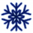 Blue snowflake 3d. - Stock Photo