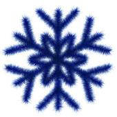 Floco de neve azul 3d. — Foto Stock