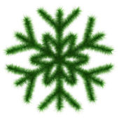 Green snowflake 3d. — Stock Photo