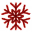 Red snowflake 3d — Stock Photo