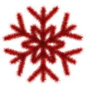 Röd snöflinga 3d — Stockfoto