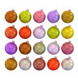 Set of multicolored Christmas balls 3d. — Stock Photo