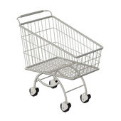 Shopping cart. Isolated on a white — Stock Photo