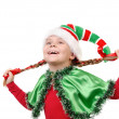 Royalty-Free Stock Photo: Girl in suit of Christmas elf