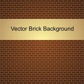 Vectorillustratie van bruin muur — Stockvector