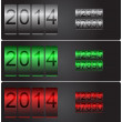 New Year's vector counters with set of numbers — Stockvectorbeeld