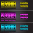 New Year's vector counters with set of numbers — Stock Vector