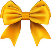 Golden Bow & Ribbon Gift. Isolated On White Background — Vector de stock