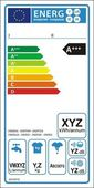 Washing machine new energy label — Stock Vector