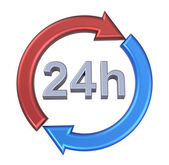 24 hours delivery sign. — Stock Photo
